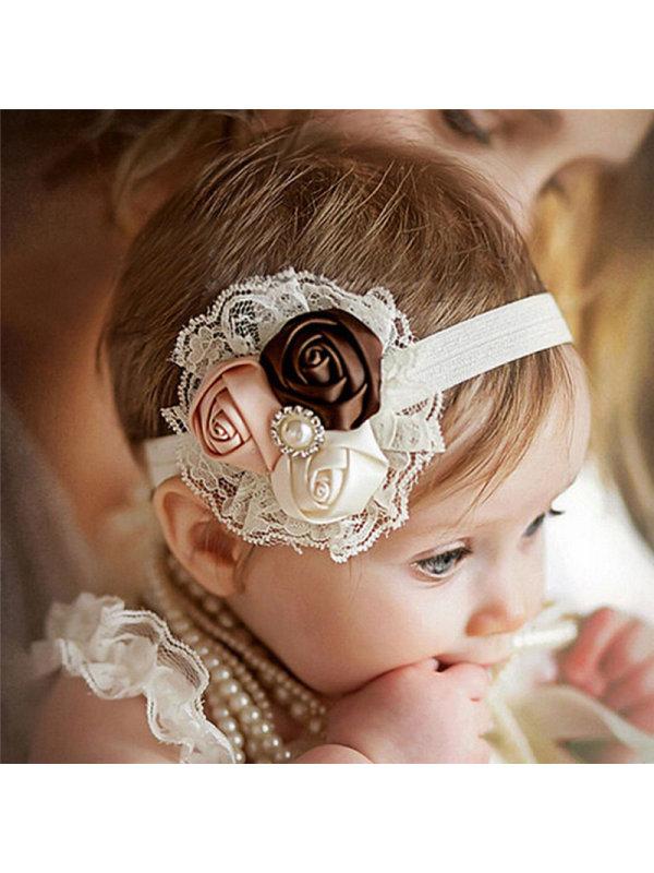 Rose Bud Lace Baby Headband