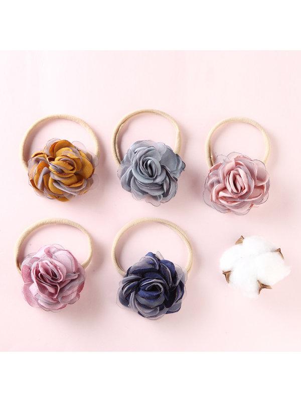 Net Yarn Lace Rose Flower Head Flower For Girls