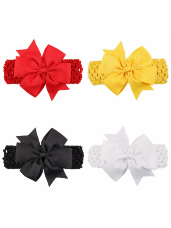 Girls Bow Wide Hair Band