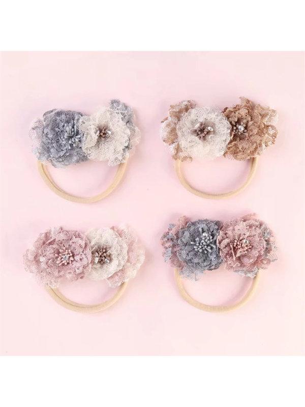 Lace Color Combination Flower Hair Circle