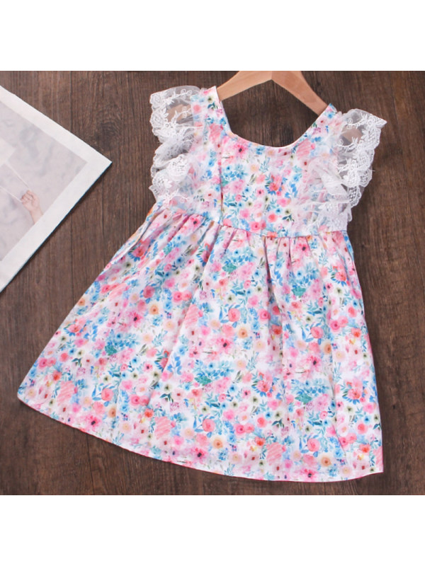 【18M-7Y】Girl Sweet Floral Lace Dress