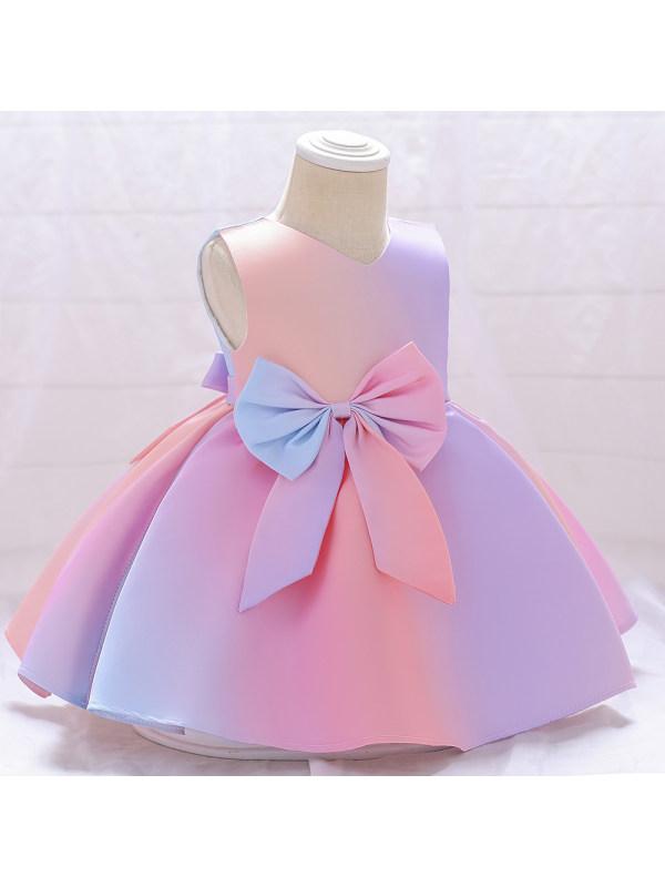 【9M-5Y】Girl Sweet Bow Sleeveless Dress