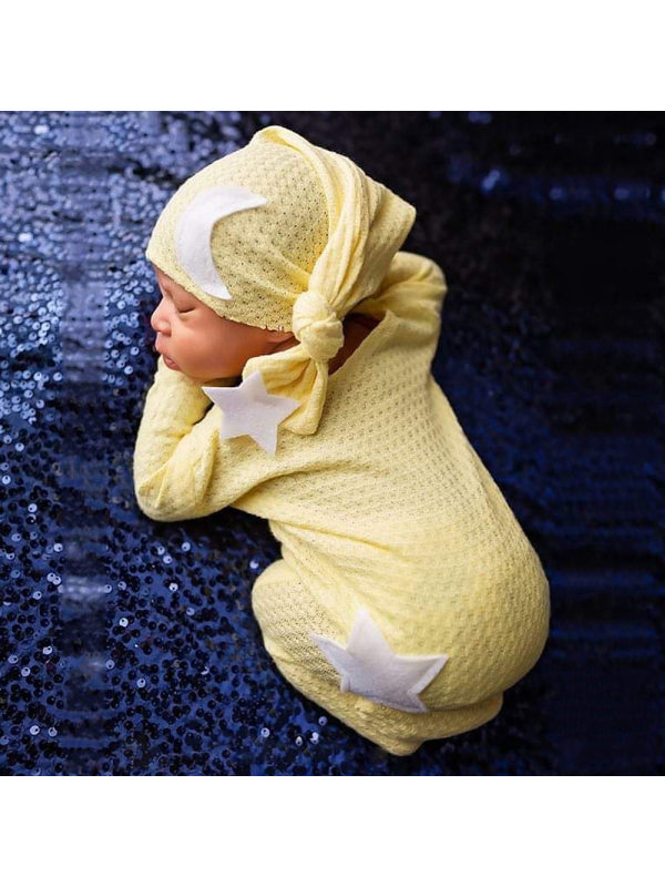 Newborn Two-piece Photography Knitted Romper Set