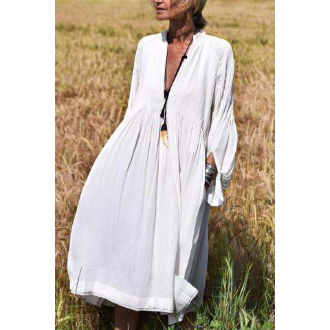 Image of V Neck Long Sleeve Maxi Dresses