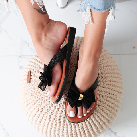 Flat Bottom Sweet Bow Flip Flops