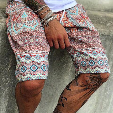 Mens casual printed shorts