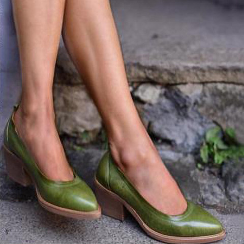 Chunky High Heeled Date Outdoor Pumps
