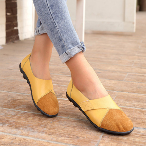 Casual slip on round toe non slip womens shoes