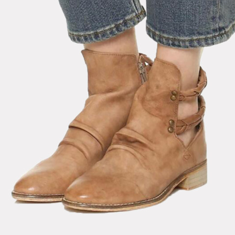 Casual and comfortable square heel womens boots