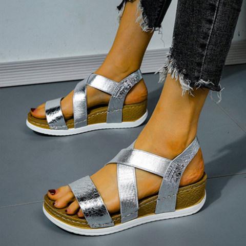 Beach fashion trend soft bottom wedge sandals