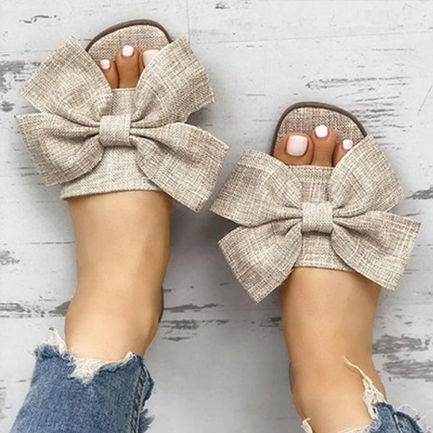 Bowknot outdoor Women Slippers
