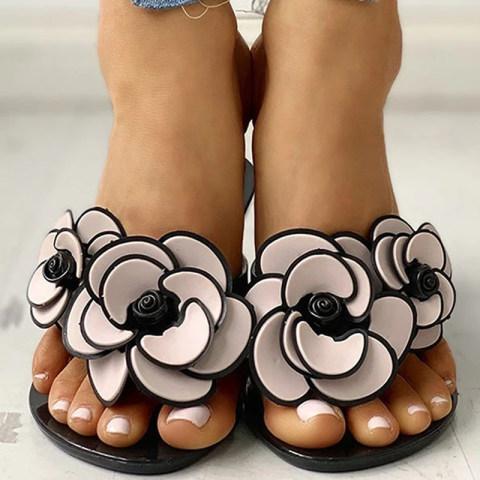 Fashion flower flat comfortable sandals