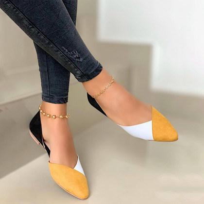 Sapatos casuais lisos para mulher