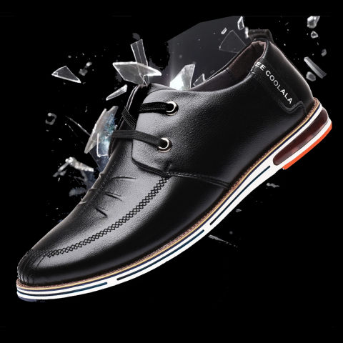 Mens Business Casual Flat Shoes