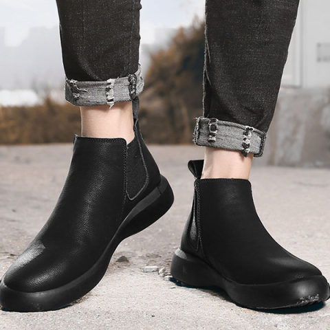 Mens Classic Leather Chelsea Boots