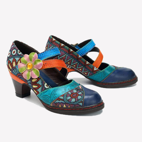 Womens fashion round toe high heels