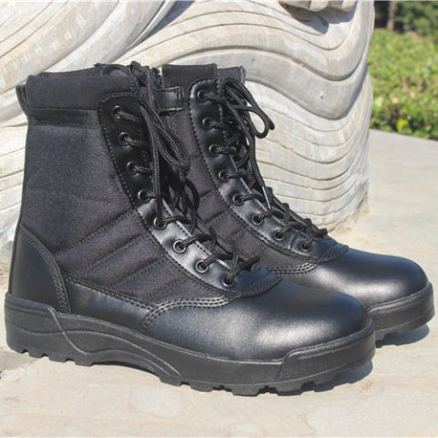 Breathable high-top outdoor tactical boots