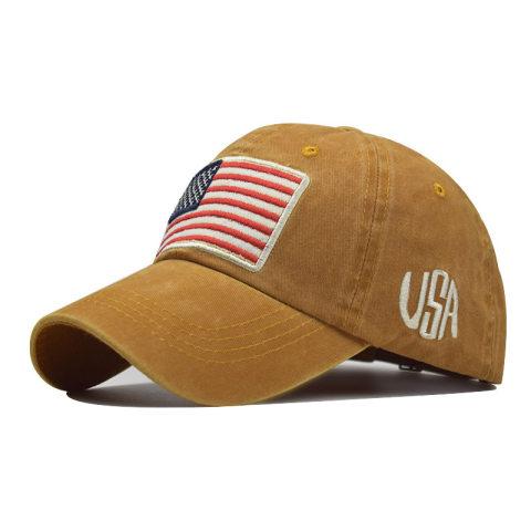 Men's outdoor casual flag baseball cap