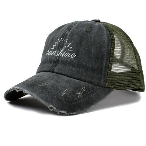 Leisure washable hole outdoor cap