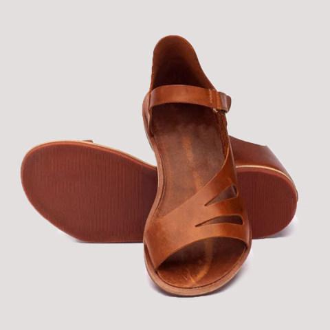 Womens Plain Flat Peep Toe Casual Flat Sandals