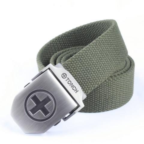 Recreational multi-color sports outdoor steel buckle belt