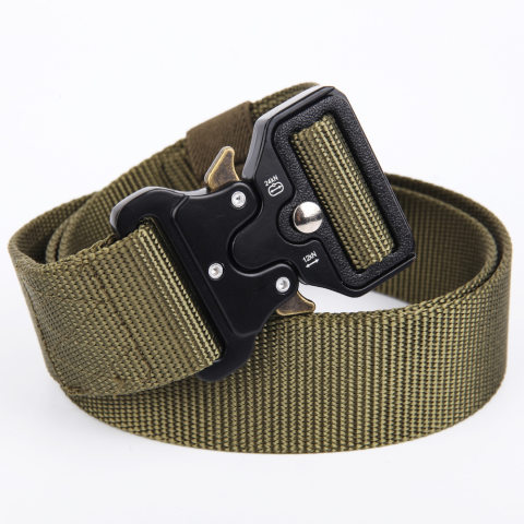 Military camouflage outdoor training tactical belt
