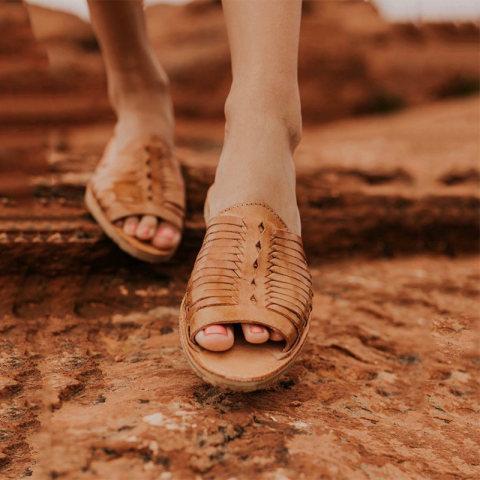 Casual flat cutout open toe sandals