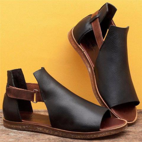 Womens vintage flat toe sandals