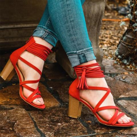 Block Heel Open Heel Zip Women39s Sandals