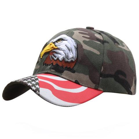 Eagle embroidered cap