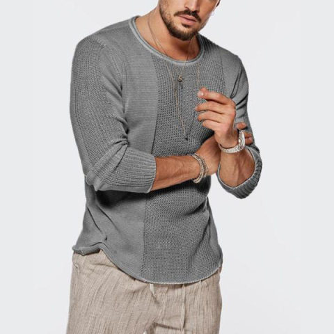 MenS Round Neck Knit Sweater