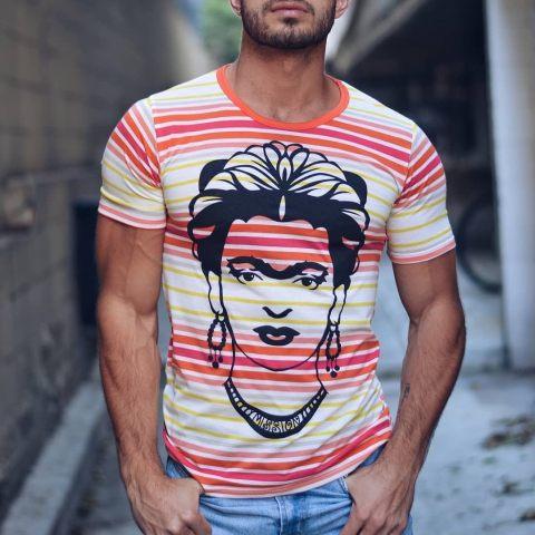 Casual Fashion Printed Slim Fit T Shirt
