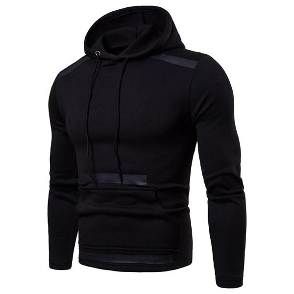 Casual mens colouring long sleeves hoodie