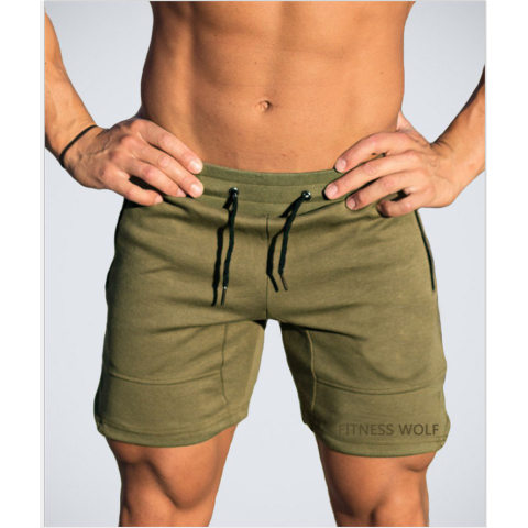 Mens Sports Running Outdoor Embroidered Cropped Pants