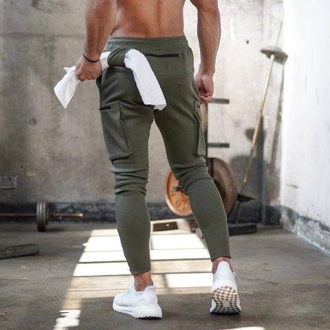 Mens Camo Fitness Trousers