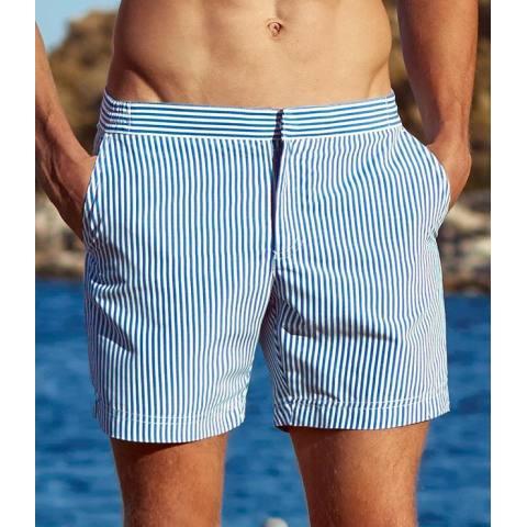 Striped repair shorts