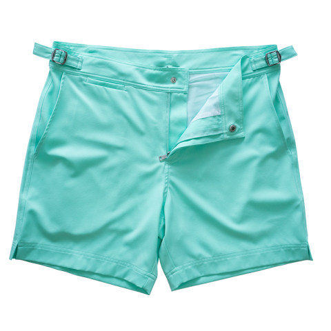 Solid color swim shorts
