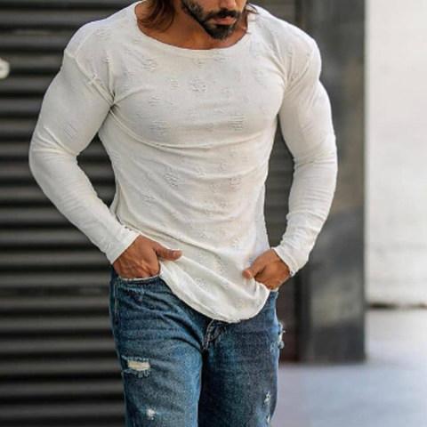 Fashion casual long sleeve T shirt