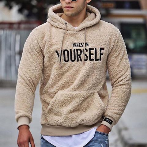 Mens Casual Printed Colour Hooded Sweatshirt