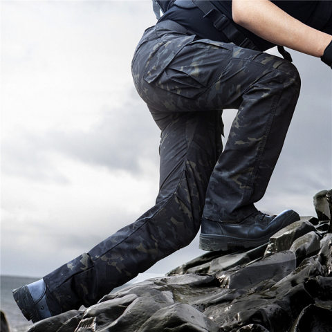 Archon Outdoor Assault Pants Mens Waterproof Windproof Multi-pocket Loose Tactical Trousers