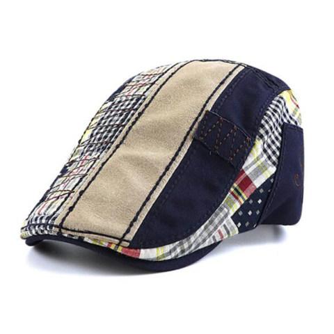 British casual stitching beret