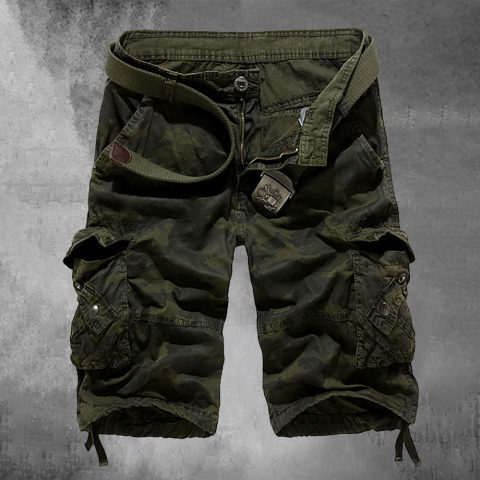 Mens Outdoor Camouflage Cargo Shorts