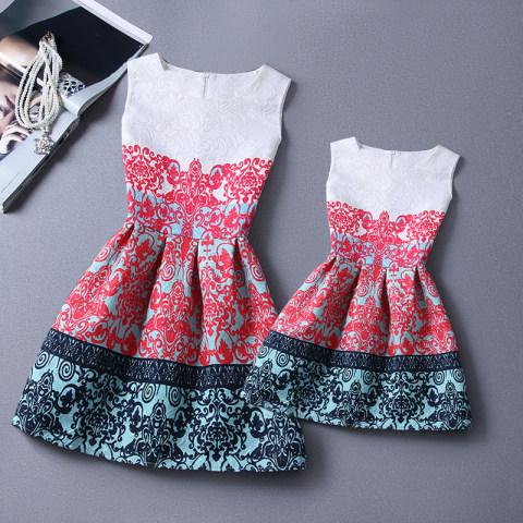 Fashion Print Sleeveless Tank Top Family matching outits