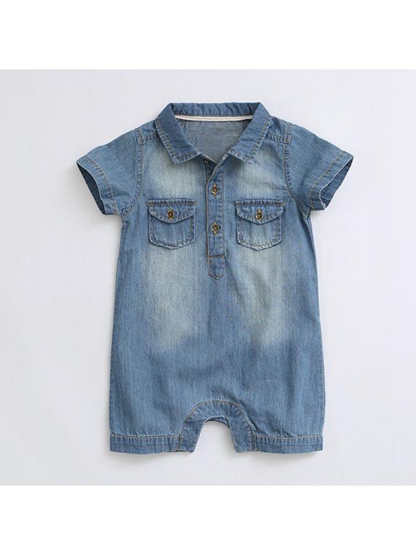 【6M-3Y】Baby Denim Romper