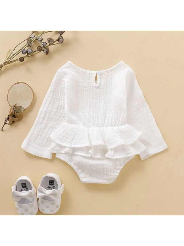 【6M-3Y】Baby Girl Long Sleeve Romper