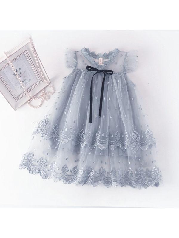 【2Y-9Y】Girls Lace Sleeveless Dress