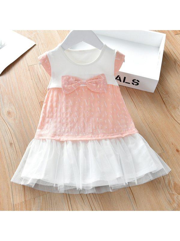 【18M-7Y】Girl Bow Sleeveless Dress