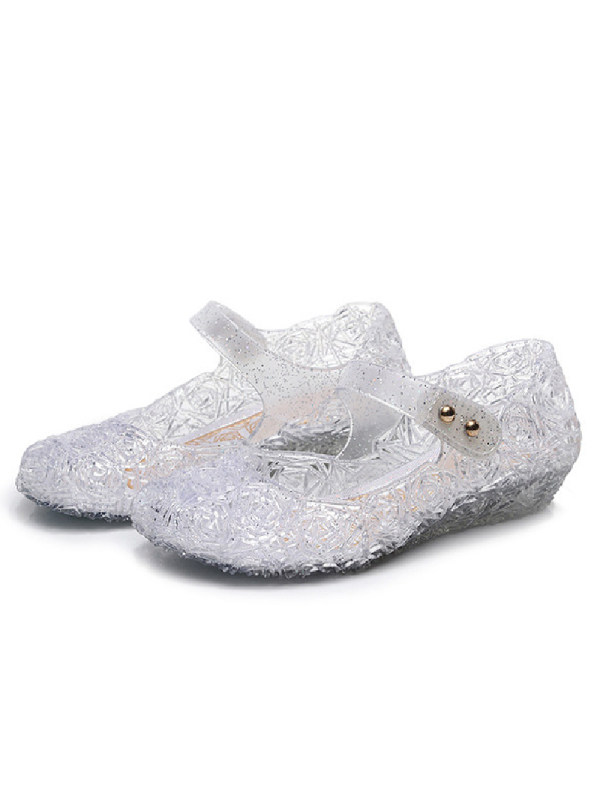 Girls Fashion Solid Color Velcro Princess Shoes