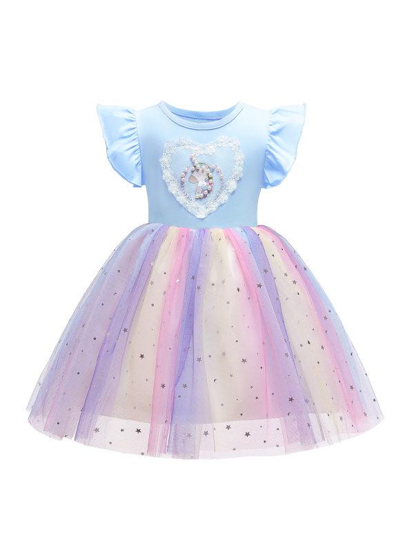 【2Y-11Y】Girl Unicorn Princess Dress