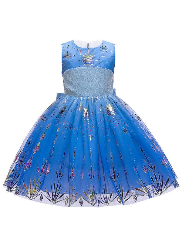 【2Y-11Y】Girls Frozen Princess Dress